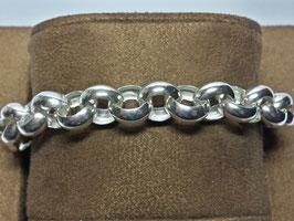 Pulseira prata de cordão médio simples - PP