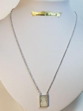 Fio prata escapulário com zircónias - JPS