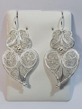 Brincos em prata Coração de Viana flor 55.45 - AN