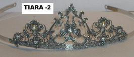Tiara de cabelo em prata arcos e zircónias - P - RB