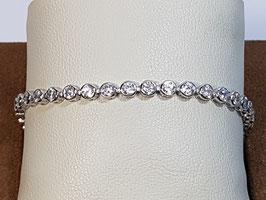Pulseira prata tipo riviera com zircónias brancas em aro 21.17.4,5 - AU