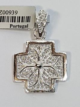 Cruz de filigrana em prata quadrada - RS