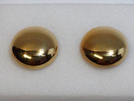 Botão de Punho Ouro - Redondo Polido Abaulado CTª