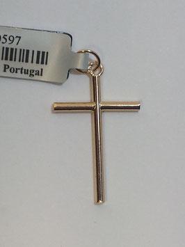 Cruz em ouro de fio redondo lisa 21.14.1,5 - MM