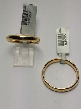 Aliança ouro, amendoada 3x1,5mms - 14