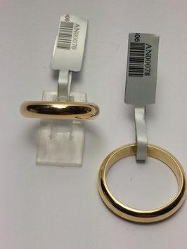 Aliança ouro, 1/2 cana 4x2mms - 17