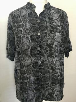 Bluse mit kurzen Ärmeln und Knöpfen Größe 40