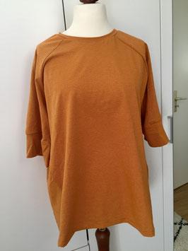 Pullover mit 3/4 Ärmeln gelb Streifen Größe 40/42