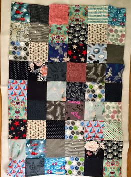 Patchwork Decke, Kuscheldecke aus Jersey und Fleece