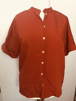 Bluse mit Stegkragen Größe 40