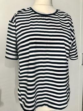 blau weiß gestreiftes Tshirt Größe 40/42