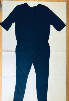 Jumpsuit marineblau Feinstrick Größe 39/40