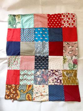 Patchwork Decke, Kuscheldecke aus Baumwolle und Fleece