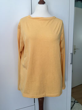 Pullover mit langen Ärmeln hellgelb Größe 40