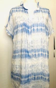 Tunika mit kurzem Arm batik hellblau Größe 40