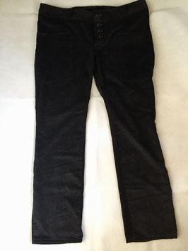 gerade Hose aus Cord schwarz Größe 39/40