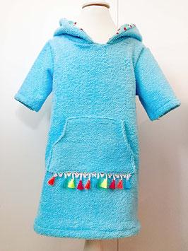 Strandkleid aus Frottee türkis Größe 86