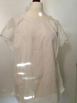 Bluse mit kurzen Ärmeln weiß Größe 40