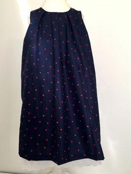 Kleid aus Baumwolle mit Spitze und Schleife Größe 110