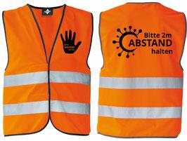 "Abstandsweste ""ABSTAND"" orange"