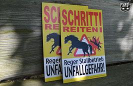 """Schritt reiten!"" Hartschaum"