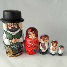 """Matroschka 5 tlg    """"Jüdische Familie"""""""