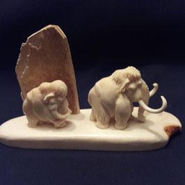 Zwei Mammuts