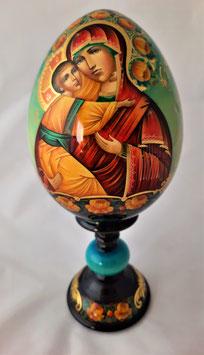Holzei mit Ikone Gottesmutter