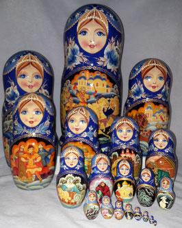 """Matroschka 20 teilig """"Russisches Winter"""""""