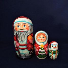 Weihnachtsmann 3 teilig  mit dem Stock