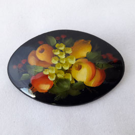 """Brosche """"Früchte"""", Oval"""