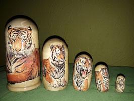 """Matroschka 5 tlg  Motiv """"Tiger"""""""