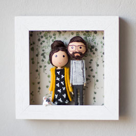 Personalisierter Bilderrahmen - Wir sind verliebt
