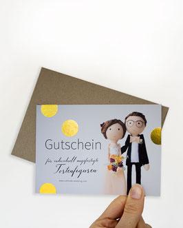 """GUTSCHEIN für Hochzeitsfiguren """"klassisch"""""""