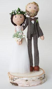 """Brautpaar für die Hochzeitstorte """"klassisch"""""""