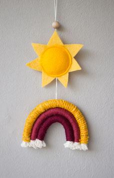 "kleiner Wandbehang ""Sommersonne"""