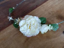 Haarband Gartenrose mit Perlen