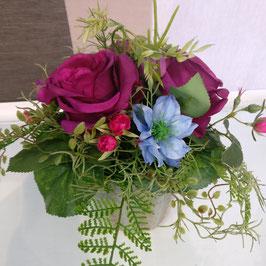 Rosenstrauss bordeaux-lila
