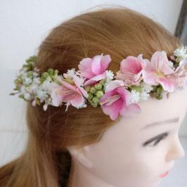 Haarkränzchen Schleierkraut rosa