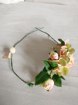 Haarband Rosen, Hortensie Kristall in apricot/rose