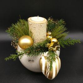 Gesteck mit Birkenstämmchen gold