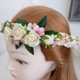 Haarkränzchen weiße Röschen
