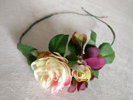 Haarband Gartenrosen apricot