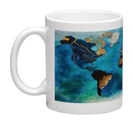 """Mug Planisphère panoramique blanc / Promo """"Automne-Hiver 2018"""" = réduction exceptionnelle de 12,5% pour toute commande jusqu'au 31 mars 2019"""
