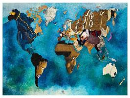 """Le lot de 10 cartes postales SIDHERIA Planisphère / Promo """"été 2018"""" = réduction exceptionnelle de 16% pour toute commande jusqu'au 1 septembre 2018"""