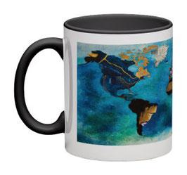 """Mug Planisphère panoramique noir / Promo """"Automne-Hiver 2018"""" = réduction exceptionnelle de 12,5% pour toute commande jusqu'au 31 mars 2019"""