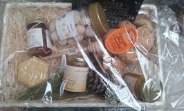 corbeille osier nature miel de l'Aude