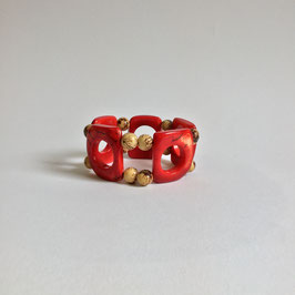 "Armband ""Natural Red""   Tagua"