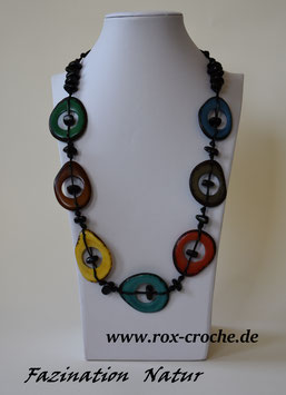 """Tagua Halskette """" Colorido """""""