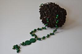 Tagua Halskette  Verde